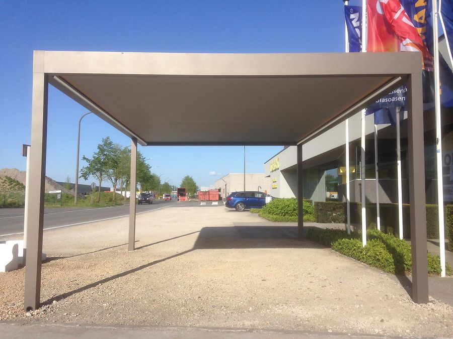 Renson algarve canvas minimalistische design carport